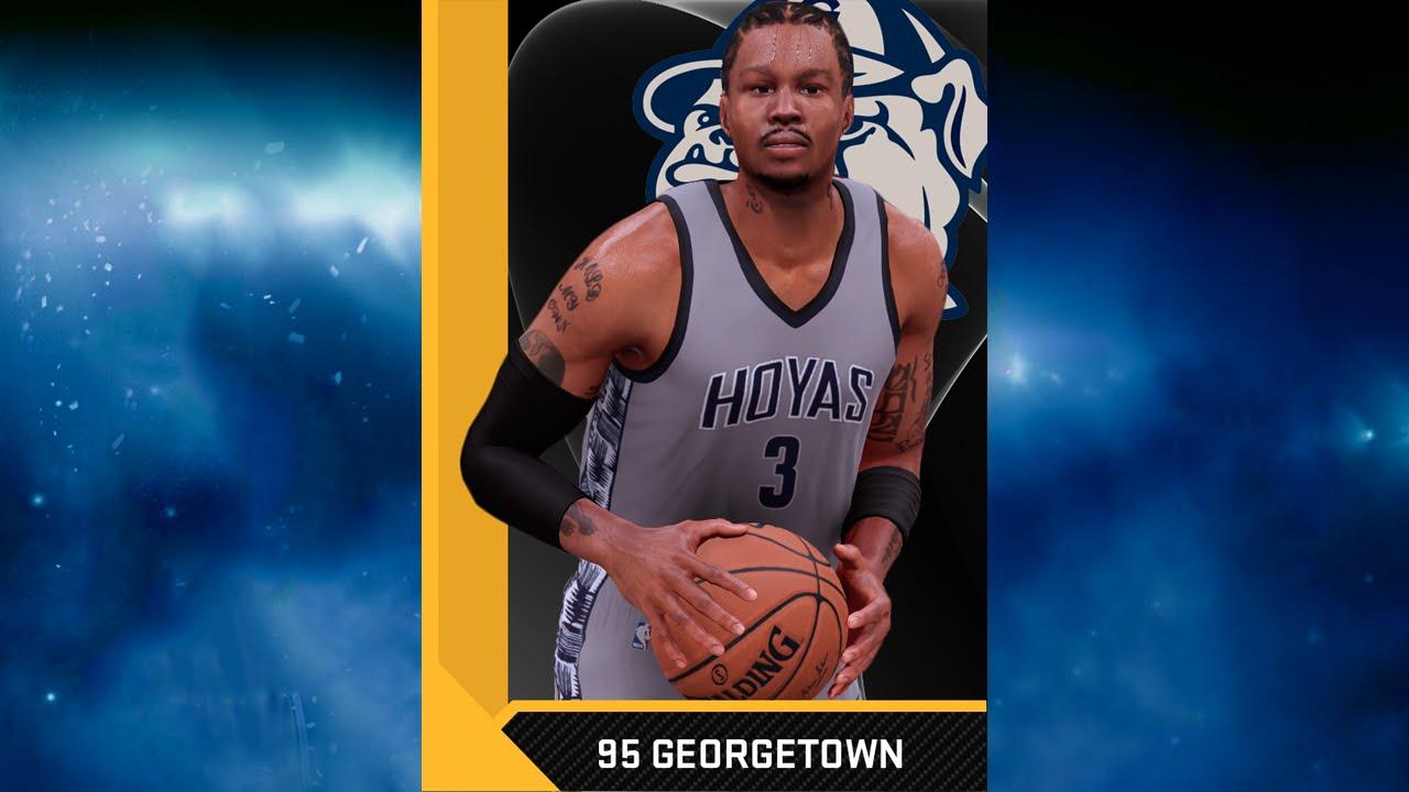size 40 5d3e5 061df NBA 2K16 1995 Georgetown Hoyas (Allen Iverson) Jersey & Court Tutorial