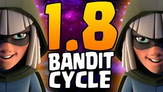 BANDIT LIKE A GOD! 1.8 BANDIT CYCLE! TROLLING FASTEST BANDIT DECK EVER! | Clash Royale