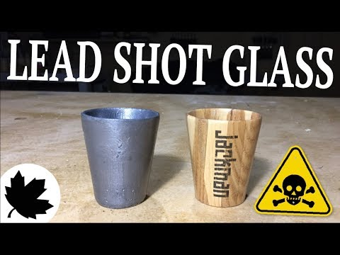 Lead Shot Glass ||| Metal Casting Mold Making