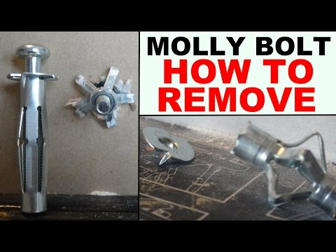 how to remove hollow wall anchors properly (drywall anchors, molly bolts)