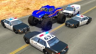 Extreme Police Chases Crashes&Fails #2 - BeamNG DRIVE