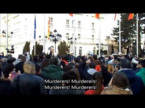 Opposition Protest in Skopje, FYROM - 21-II-2015