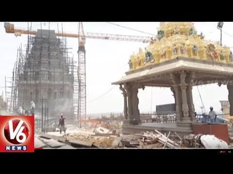 Yadadri Main Temple Construction Works Completed   V6 News