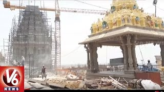 Yadadri Main Temple Construction Works Completed | V6 News