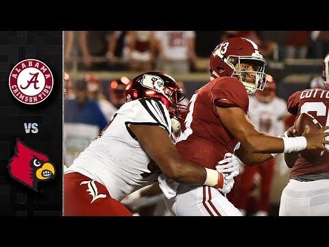Alabama vs. Louisville Football Highlights (2018)