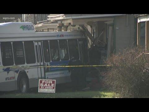 NFTA Bus Crashes Into Home On Bailey Ave