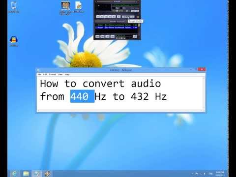 How to convert audio from 440 Hz to 432 Hz