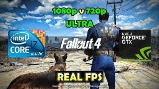 Fallout 4 | GTX 750 Ti - Core i7 920 | Ultra 720p vs 1080p FPS Test