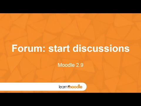 Learn Moodle 2015: Activity: Forum (Moodle 2.9)