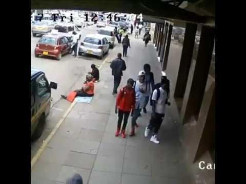Woman crushed by a careless,driver,Nairobi CBD