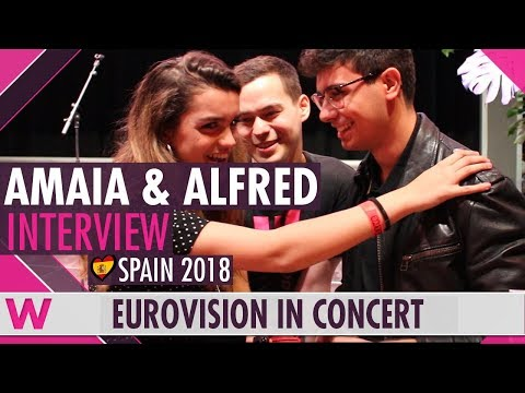 Amaia y Alfred (Spain 2018) Interview | Eurovision in Concert 2018