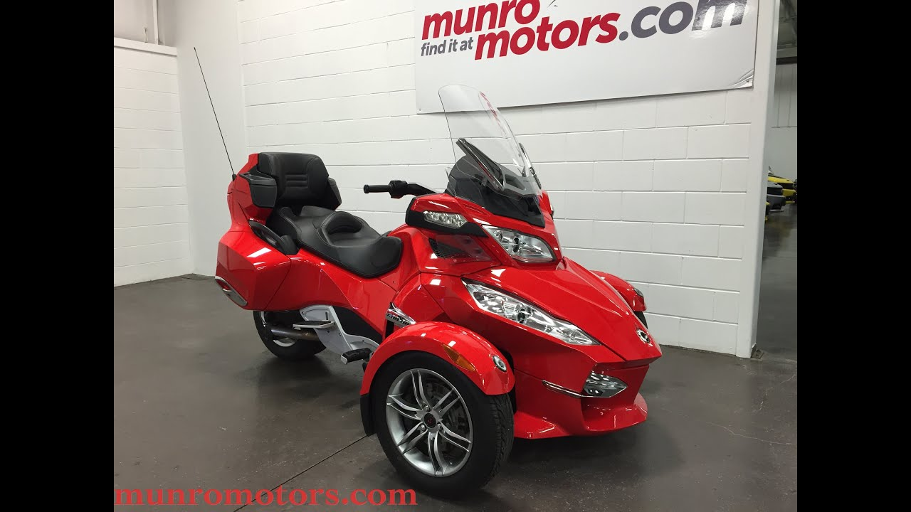 2012 Can Am Spyder Rt Se5 Automatic Sold Munro Motors