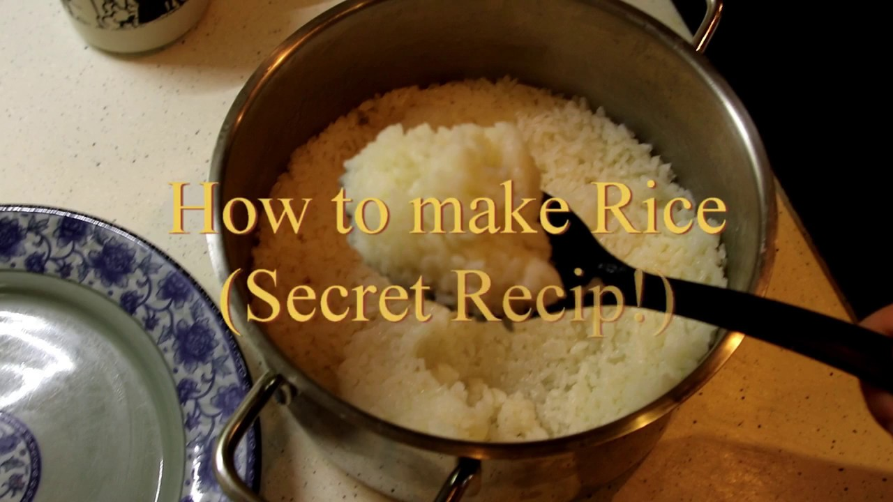 How To Prepare Rice (secret Recipe)