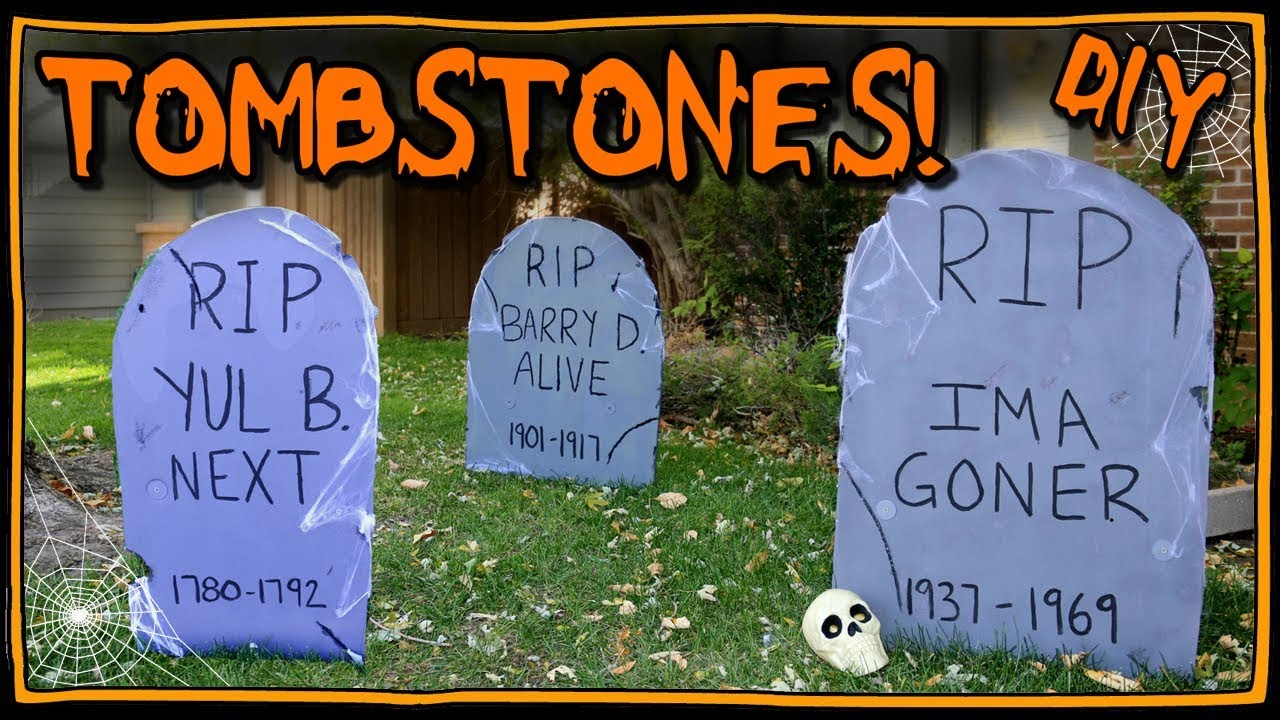 how to make tombstones | i am kristin📍 - youtube