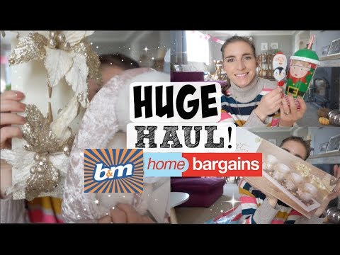 HUGE B&M / HOME BARGAINS HAUL | XMAS GIFTS/ HAMPERS / STOCKING STUFFERS!