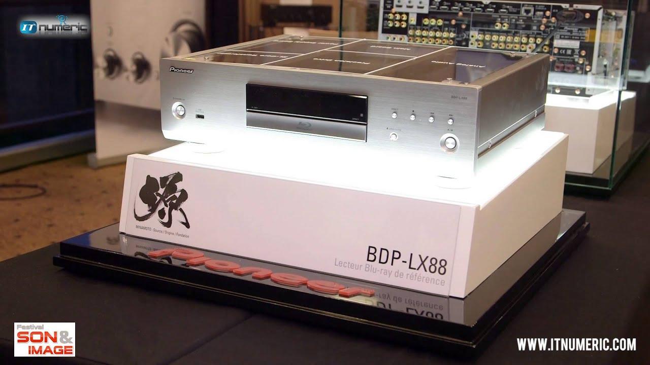 pioneer bdp lx88 lecteur blu ray 3d youtube. Black Bedroom Furniture Sets. Home Design Ideas