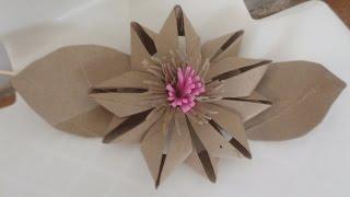 Flor de Rolo de Papel Higiênico 2 por Flores e Flores