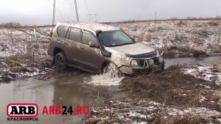 Land Cruiser Prado 150 stuck in water mud off road test ARB24