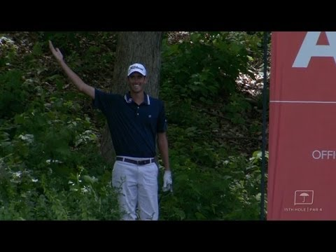 Chesson Hadley's incredible save from the bushes at Travelers