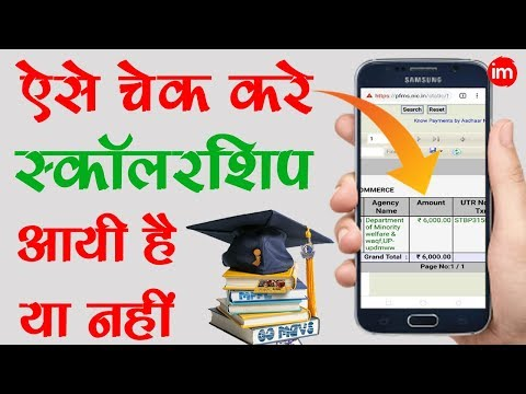How to Check Scholarship Credit Status Online | By Ishan