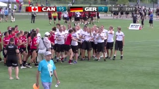 2018 World Jr. Ultimate Championships | Game 1 - Women: Canada vs Germany | Aug. 18