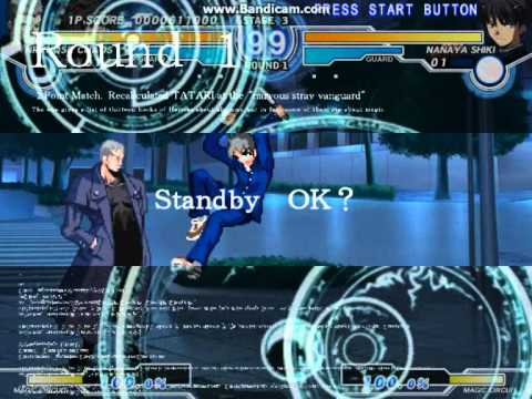 Melty Blood Actress Again Current Code Ver. 1.07 - C-Nrvnqsr Chaos Arcade Mode Part 1 |