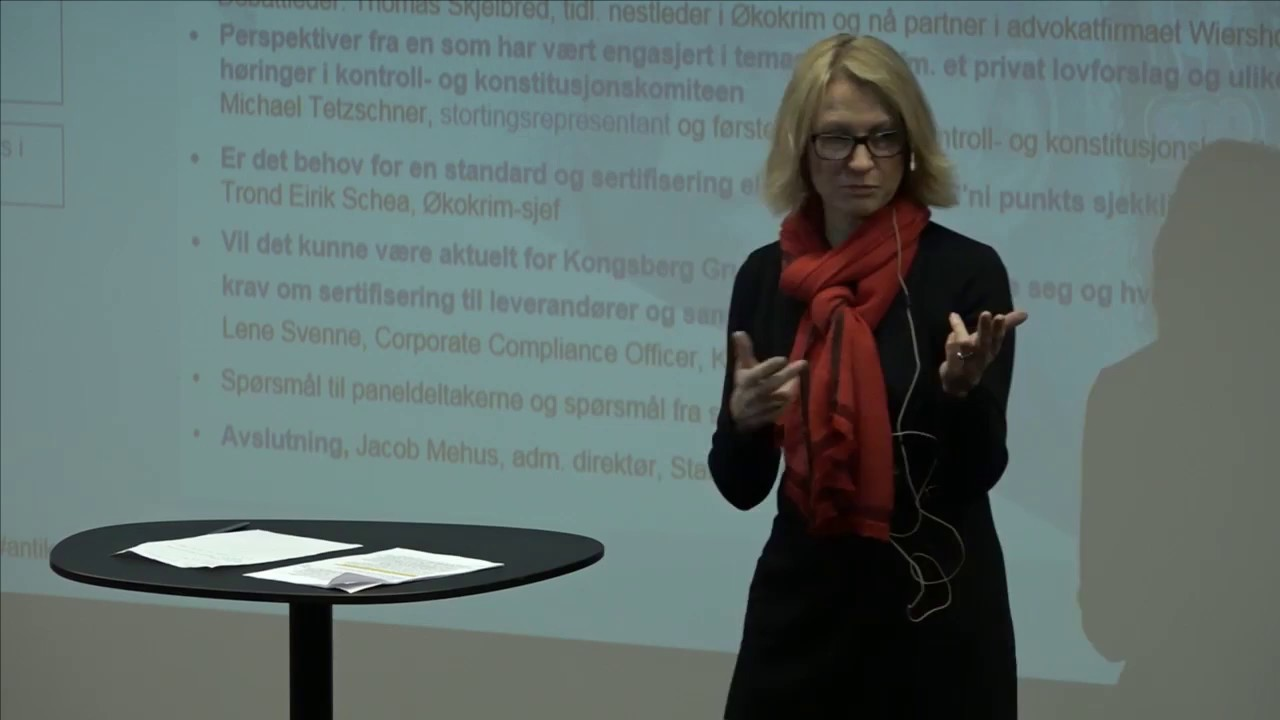 Lene svenne corporate compliance officer kongsberg gruppen youtube - Corporate compliance officer ...