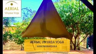 Aerial Vinyasa Yoga / Hanumanasana