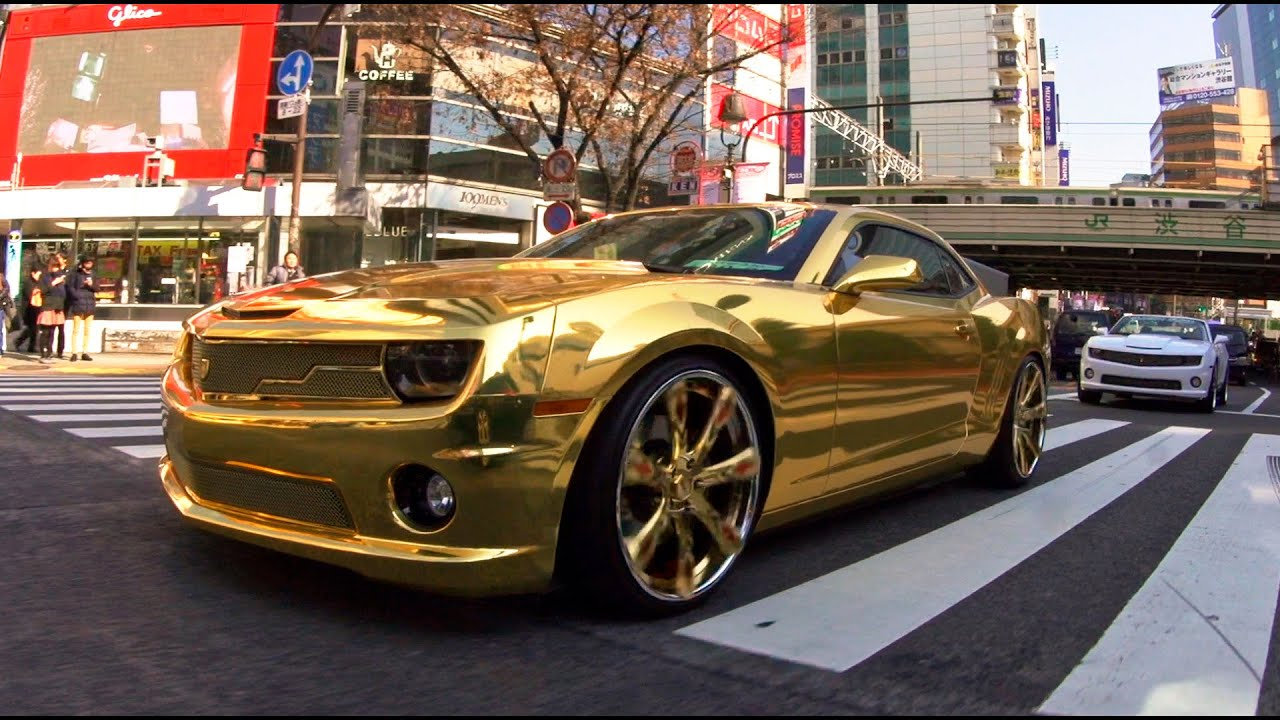 24k Gold Chevrolet Camaro On Lexani Wheels Youtube