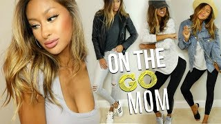 MOM STYLE Trendy ON THE GO Hair Makeup 5 Outfit Ideas