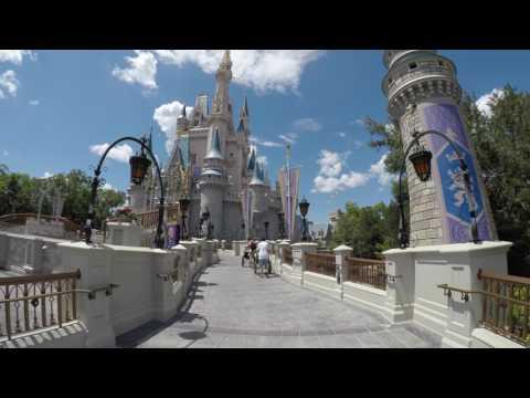 A Walk through Cinderella's Castle at Magic Kingdom Walt Disney World