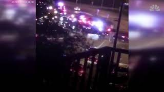Raw Shootout Footage Between Police And Kidnapper Armed With An AK-47 At Miami International Airport
