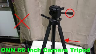 ✅  How To Use ONN 66 Inch Camera Tripod Review