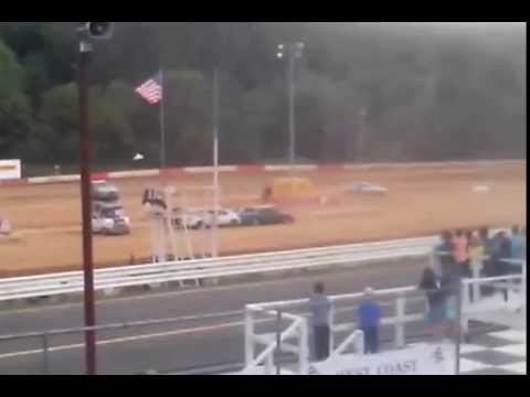 Coos Bay Speedway - Two Car Demolition