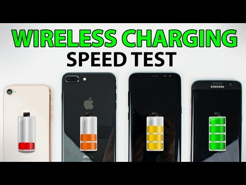 iPhone 8 vs iPhone 8 Plus vs Galaxy S8 vs Galaxy S7 Edge - WIRELESS CHARGING SPEED TEST