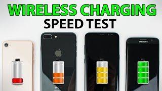 iPhone 8 vs Galaxy S8 & S7 Edge - WIRELESS CHARGING SPEED TEST