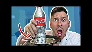 DIY GALLIUM COKE EXPERIMENT!! (LIQUID METAL MELTS IN YOUR HAND)