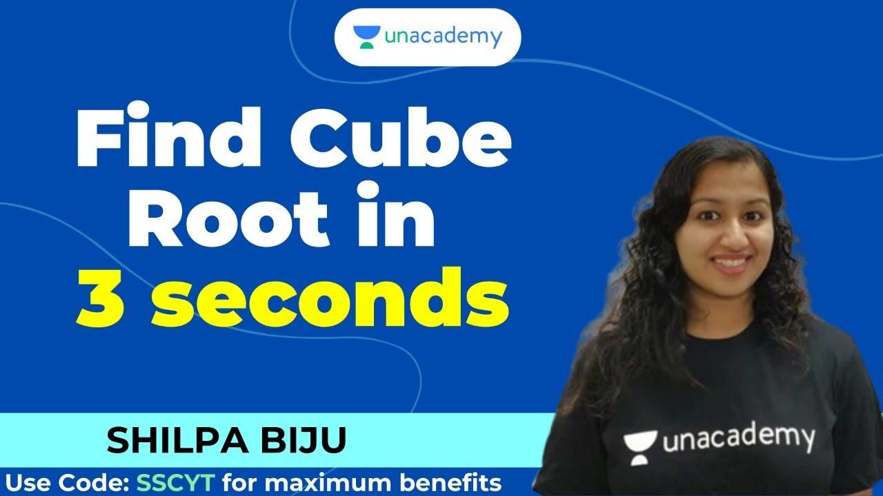 🔴 Live! 👉Find Cube Root in 3 seconds | Unacademy | Shilpa Biju