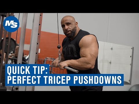 Quick Tip: How to Perfect Your Tricep Pushdowns