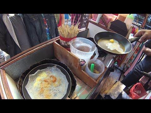 Indonesia Surabaya Street Food 1801 Quail Egg Satay Brebes Omelete Papeda YDXJ0569