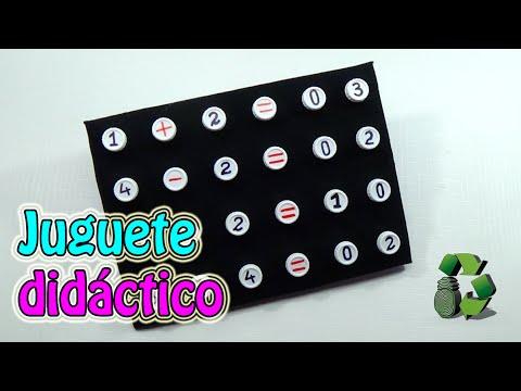 Juguete Didactico Con Tapas De Plastico Operaciones Matematicas