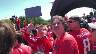 Washington Capitals Parade on June 12, 2018 -  11:10 with Fly-by
