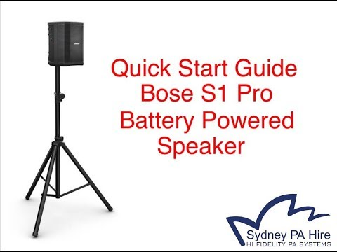 How To Use the Bose S1 Pro Battery Powered Speaker