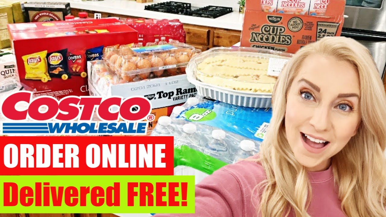Costco Grocery Shopping: How to Order ONLINE & Get it Delivered FREE with  INSTACART! - YouTube