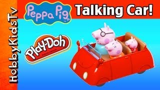 Peppa Pig Talking Toy Car! Muddy Play-doh Puddle [box Open] [toy Review} Hobbykidstv