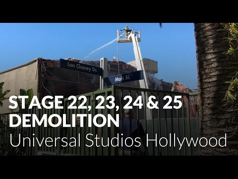 Universal Studios demolishes Soundstage 22, 23, 24 and 25 - Universal Studios Hollywood