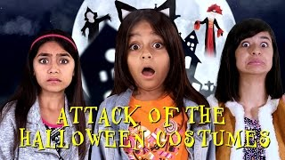 attack of the halloween costumes movie trailer parody sketch comedy gem sisters