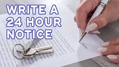 How to write a 24 hour notice of entry