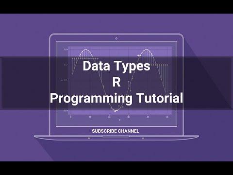 R Programming Tutorial - 02 - Data Types R Programming
