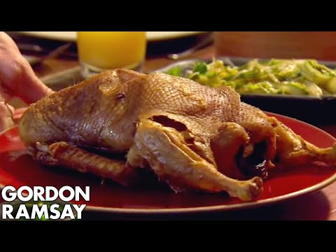 Crispy Roast Duck Pancakes with Black Bean Dipping Sauce | Gordon Ramsay